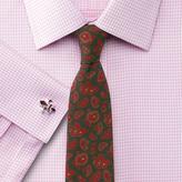 Charles Tyrwhitt Green luxury wool paisley printed slim tie