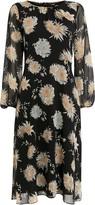 Wallis Black Oriental Print Midi Dress
