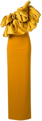 SOLACE London One Shoulder Maxi Dress