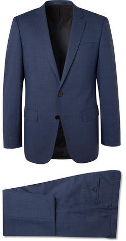 HUGO BOSS Navy Huge/genius Virgin Wool Suit