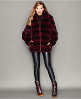 The Fur Vault Rabbit Fur Bomber Jacket