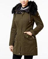 GUESS Faux-Fur-Trim Hooded Parka