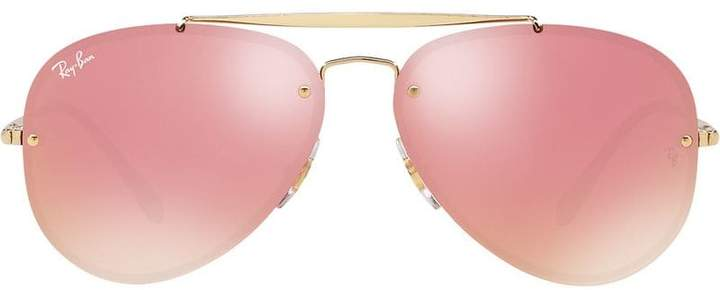 61277ea3c Ray Ban Pink Aviator - ShopStyle UK