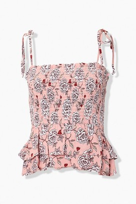 Forever 21 Floral Tie-Strap Cami