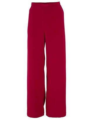 Catherine Regehr Red Silk Crepe Pull On Pant