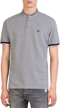 The Kooples Men's Officer-Collar Short-Sleeve Polo Shirt
