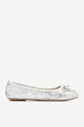 Ardene Coarse Glitter Flats - Shoes |