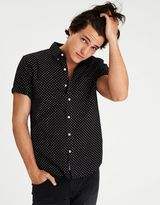 American Eagle Outfitters AE Short Sleeve Pattern Oxford Shirt