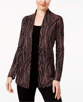 JM Collection Petite Printed Layered-Look Cardigan, Created for Macy's