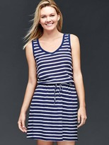 Gap Linen-cotton stripe tie dress