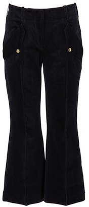 Acne Studios Navy blue cropped bootflare pants with pockets