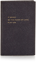 Smythson If Music Be The Food Of Love Play On notebook
