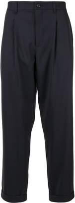 Durban D'urban elasticated waistband cropped trousers