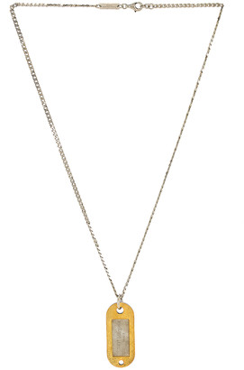 Maison Margiela Necklace in Yellow Gold Plated & Palladio Polished | FWRD