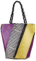 Proenza Schouler Medium Hex Snakeskin & Leather Bucket Bag, Multi