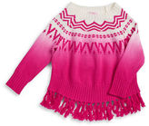 Design History Girls 2-6x Ombre Fringe Sweater