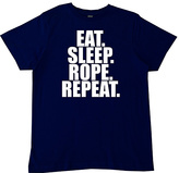 Micro Me Navy 'Eat Sleep Rope Repeat' Crewneck Tee - Toddler & Boys