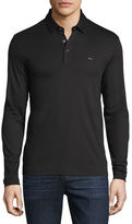 Michael Kors Long-Sleeve Pique Polo Shirt