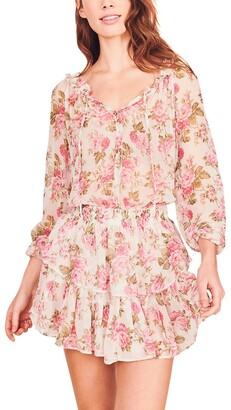 LoveShackFancy Popover Silk Dress