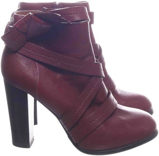 Marc by Marc Jacobs Red Leather Ankle