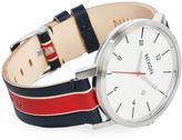 Nixon White Rollo Striped Watch