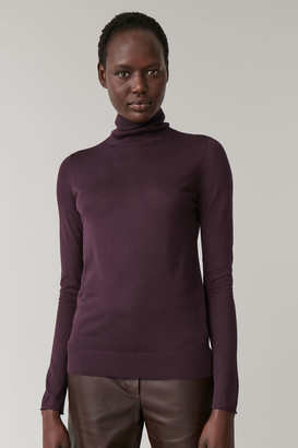 Cos Sheer Polo-Neck Jumper