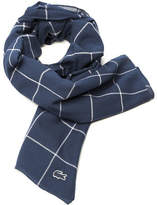 Lacoste Men's Net Print Cotton Twill Scarf