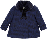 Monsoon Baby Neve Navy Sparkle Coat