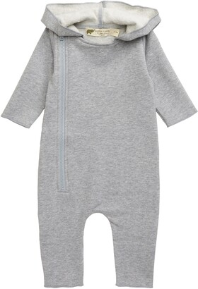 MONICA Hooded Stretch Organic Cotton Romper
