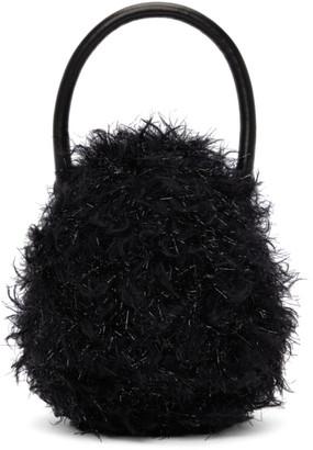 Simone Rocha Black Metallic Mini Handheld Egg Bag