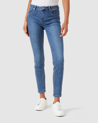 French Connection Mid Rise Skinny Jeans