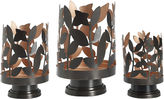 Asstd National Brand Luminaries Metal Leaf 3-pc. Candle Holder Set