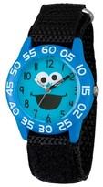 Sesame Street Boys' Blue Plastic Time Teacher Watch - Black