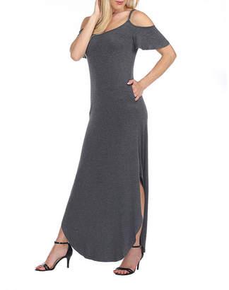 White Mark Lexi Short Sleeve Maxi Dress