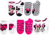 Asstd National Brand Girls 5 Pair Minnie Mouse No Show Socks