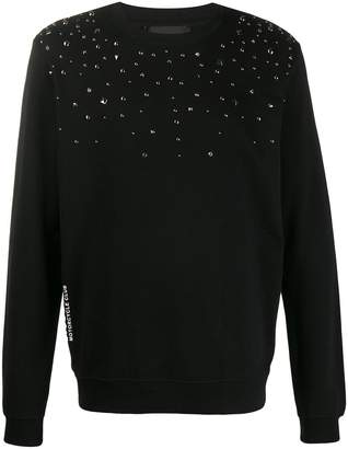 John Richmond studded relaxed-fit sweatshirt
