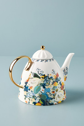 Anthropologie Botanica Teapot By in Gold Size TEAPOT