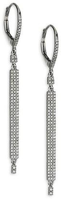 Meira T 14K White Gold & Diamond Bar Linear Earrings