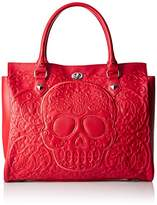 Loungefly Lattice Skull Tote