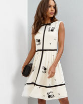 Ted Baker Contrast Rose Aline dress