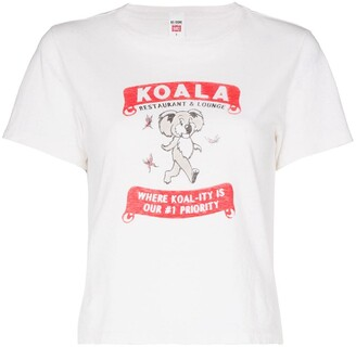 RE/DONE slogan print T-shirt
