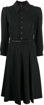 Jean Paul Gaultier Pre Owned 1990s Pinstripe Shirt Dress