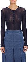 Gabriela Hearst Women's Henley Bodysuit-NAVY