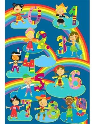 Fun Rugs Kids and Numbers Kids' Rug, Blue