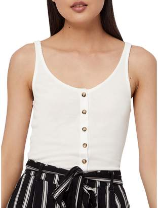Noisy May Henley Button-Front Top