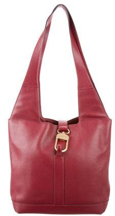 Delvaux Grained Leather Tote