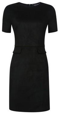 Dorothy Perkins Womens Black Suede Pocket Shift Dress, Black