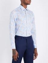 Etro Striped floral-print slim-fit cotton shirt