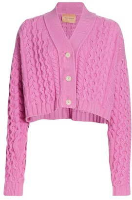 Andamane Forget Me Not Knitted Cropped Cardigan
