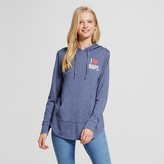 Modern Lux Women's I Love Naps Brushed Pullover Hoodie Navy Blue - Modern Lux (Juniors')